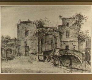 Poortgebouw en een stenen brug