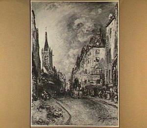 Rue Saint-Jacques en de Saint Sévérin te Parijs