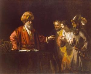 Petrus ontvangt de dienaren van de centurion Cornelius