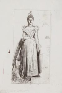 Portret van Adelaide Jeanne Henriette van Pallandt (1838-1912)