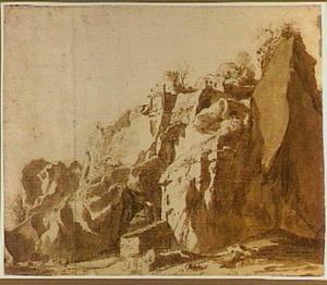 Rotswand nabij Bomarzo