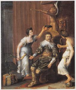 Allegorie op de verovering van Den Bosch door Frederik Hendrik van Oranje- Nassau (1584-1647)