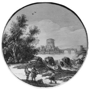 Landschap met waterval