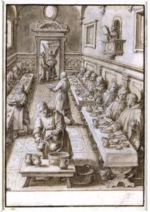 De H. Giovanni Gualberto en een wonderbaarlijke spijziging in de refter van Vallombrosa