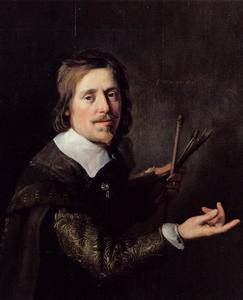 Portret van Gijsbert Gillisz. de Hondecoeter 1604-1653)