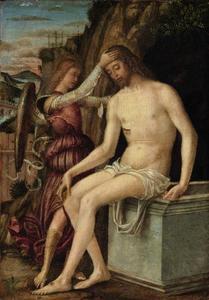 De Verrezen Christus meet een engel