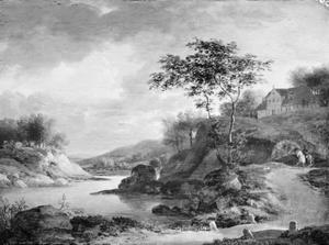Herfstlandschap bij de Rijn