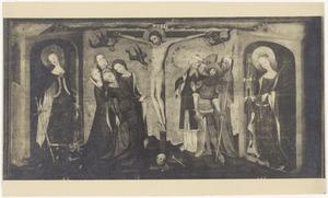 De kruisiging met de HH. Catharina en Barbara