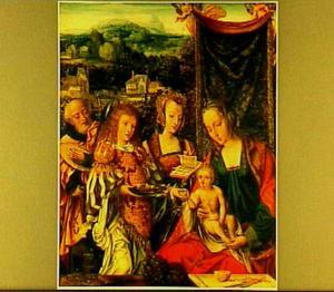 De H. Familie met de H. Catharina en een engel