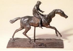 Paard in galop, steunend op het linker achter been