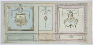 Voorbeelden van wanddecoraties, met een variant (zie beide afbeeldingen)