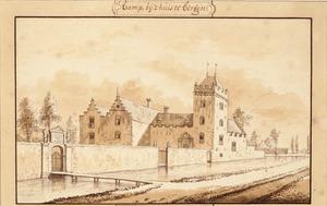Voor en rechterzijde van huis te Ramp (ook wel Rampenbosch of Rampenburg) bij Bergen