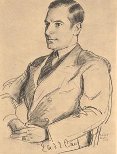 Portret van Eugene Antoine Desire Emile Carp (1895-1983)