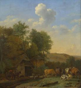 Vee bij een boerderij