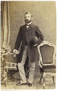 Portret van waarschijnlijk Karel Adriaan Theodoor Gevers (1825-1873)