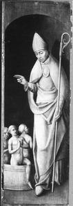 De H. Nicolaas (op de buitenzijde: de H. Paulus met stichtster)