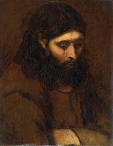 Studiekop van een apostel