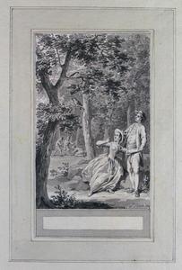 Illustratie bij 'De nachtegaal en de koekkoek' uit de Fabelen en vertelsels van F.C. Gellert
