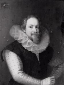 Portret van een persoon genaamd Maurits van Oranje- Nassau (1567-1625)