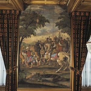 De slag van Alexander de Grote tegen de Indiase koning Poros