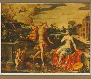 Het huwelijk van Mercurius en Philologie, de moeder van de Artes Liberales