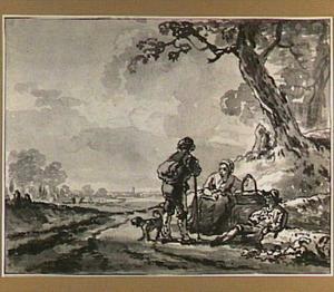 Landschap met rustende figuren