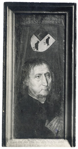 Portret van Jan de Mol (overleden in 1498) op 67-jarige leeftijd (op de achterzijde oorspronkelijk: de H. Augustinus)