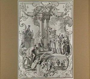 Allegorie op het huwelijk van William Sterling (1716-1796) en Johanna Maria van Rijckevorsel (1718-1808) op 19 augustus 1744