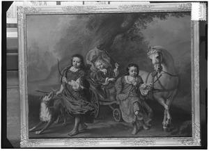 Portret van de kinderen van Adriaan Joseph Trip van Vredenburg (1686-1748)