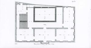 Palazzo di Negro: Plan van de eerste verdieping