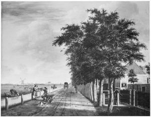 De Amsterdamse Vaart bij Haarlem, gezien naar de Liede