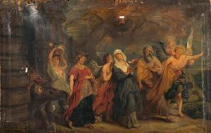 Lot en zijn gezin verlaten Sodom (Genesis 19: 12-24)
