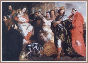 De H. Familie omgeven door tien heiligen