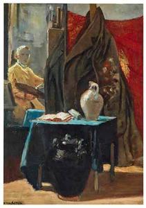 Atelierhoek met spiegelbeeld