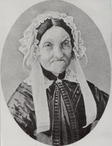 Portret van Christina Regina Backer ( -1858)