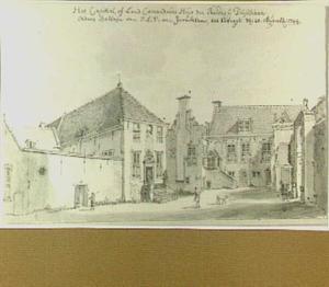 Utrecht, het Huis van de Duitse Orde gezien vanaf de binnenplaats uit het oosten