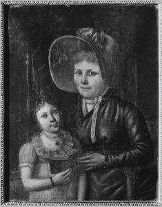 Portret van Caroline Rose Clotilis Flament (1802-1835) en haar min Boyer