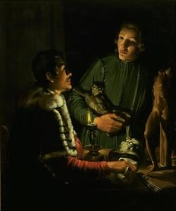 Twee beeldhouwers 's nachts : François Du Quesnoy (1597-1643) en Georg Petel (1601/1602-1633/1634)