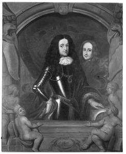 Dubbelportret van Prins Willem III (1650-1702) en Hans Willem Bentinck (1649-1709)