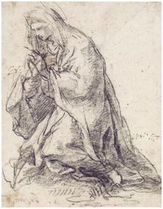 Knielende Maria, naar links