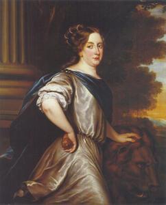 Portret van Kristina Augusta (1626-1689), koningin van Zweden