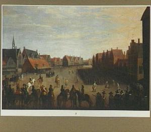 De afdanking van de waardgelders door prins Maurits op de Neude in Utrecht, 31 juli 1618