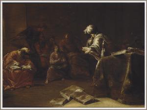 De 12-jarige Jezus tussen de schriftgeleerden in de tempel
