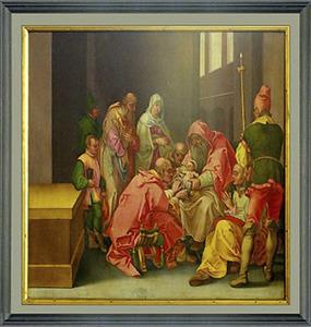 Besnijdenis van Christus door de priester in de tempel (Lucas 2:21)