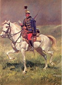 Huzaar van het Oostenrijkse leger