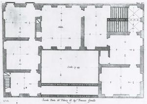 Palazzo Spinola: Plan van de hoofdverdieping