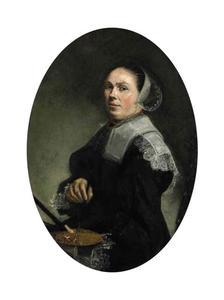 Portret van een vrouw, mogelijk zelfportret van Judith Leyster (1609-1660)