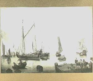 Schepen in de haven van Amsterdam