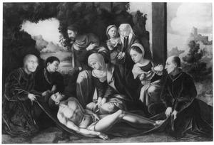 De bewening met leden van de familie Van Egmond