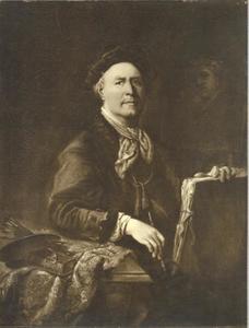 Zelfportret van de kunstenaar Philipp Wilhelm Oeding (1697-1781) met het portret van zijn vrouw Helena